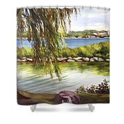 Barrie Waterfront Shower Curtain