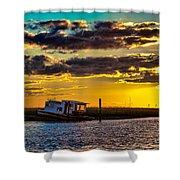 Barrier Island Sunset Shower Curtain