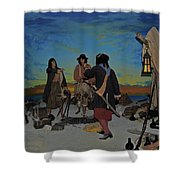 Barring Buccaneers Shower Curtain