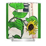 Barrio Sunflower Shower Curtain by Sarah Loft