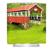 Barron's Covered Bridge Shower Curtain