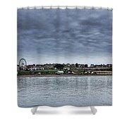 Barry Island Panorama Shower Curtain