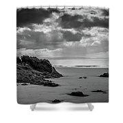 Barry Island Rocks Shower Curtain