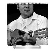 Barry Sadler With Guitar 3 Tucson Arizona 1971 Shower Curtain
