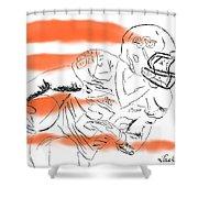 Barry Sanders Jr Shower Curtain