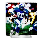 Barry Sanders On The Move Shower Curtain