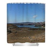 Bartolome Island Panorama Shower Curtain