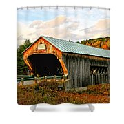 Bartonsville Covered Bridge Shower Curtain