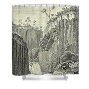 Basalt Rocks And The Cascade De Regla, Shower Curtain