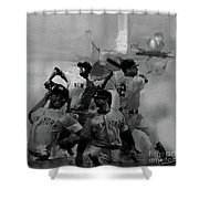 Base Ball Players Shower Curtain