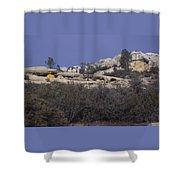 Base Camp - White Ledge Plateau - San Rafael Wilderness Shower Curtain