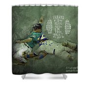 Baseball 01 Shower Curtain