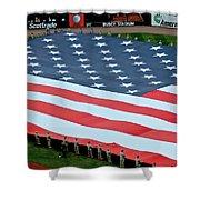 baseball all-star game American flag Shower Curtain