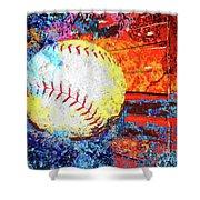 Baseball Art Version 6 Shower Curtain