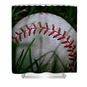 Baseball Shower Curtain by Diane Reed
