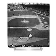 Baseball Game, 1967 Shower Curtain by Granger