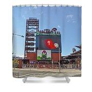 Baseball In Philadelphia - Citizens Bank Park Shower Curtain