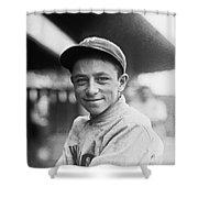Baseball Mascot Eddie Bennett Shower Curtain