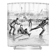 Baseball On Ice, 1884 Shower Curtain by Granger