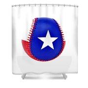 Baseball Star Shower Curtain