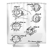 Baseball Training Device Patent 1961 Shower Curtain