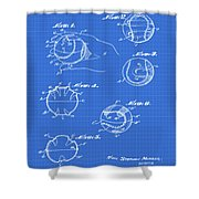 Baseball Training Device Patent 1961 Blueprint Shower Curtain