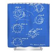 Baseball Training Device Patent 1961 Blueprint Shower Curtain