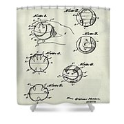 Baseball Training Device Patent 1961 Weathered Shower Curtain