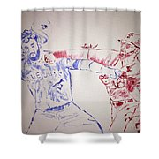 Basebrawl Shower Curtain