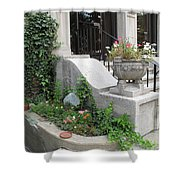Basement Entry Garden Shower Curtain