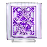 Bases Loaded In Purple Shower Curtain