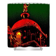 Basilica Of The Little Flower, Dome With Green Sky Shower Curtain