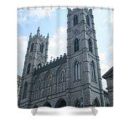Basilique Notre Dame Shower Curtain