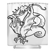 Basilisk Shower Curtain