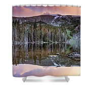 Basin Lake Sunset Shower Curtain