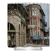 Basin Park And Flatiron Flats Shower Curtain