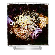 Basket Bouquet Shower Curtain