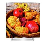 Basket Full Of Autumn Shower Curtain