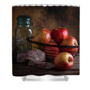 Basket Of Apples Shower Curtain