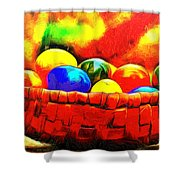 Basket Of Eggs - Pa Shower Curtain