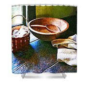 Basket Of Eggs Shower Curtain