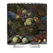 Basket Of Fruits Shower Curtain