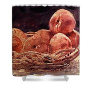 Basket Of Peaches Shower Curtain