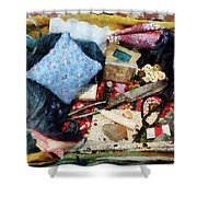 Basket Of Sewing Supplies Shower Curtain