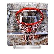 Basketball Art Version 28 Shower Curtain