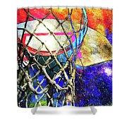 Basketball Artwork Version 179 Shower Curtain