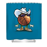 Basketball Cowboy Shower Curtain
