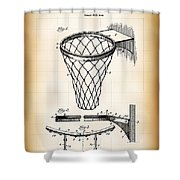 Basketball Goal Patent 1924 Shower Curtain