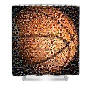 Basketball Mosaic Shower Curtain