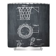 Basketball Net Patent 1951 In Chalk Shower Curtain